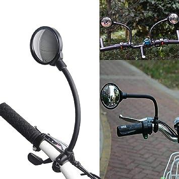 Vaycally Espejo de bicicleta premium para bicicleta, ciclomotor, silla de ruedas, rueda dentada ajuste de la manguera manillar retrovisor para bicicleta de bicicleta MTB ciclismo, scooter n. ° 324085: Amazon.es: Bricolaje y