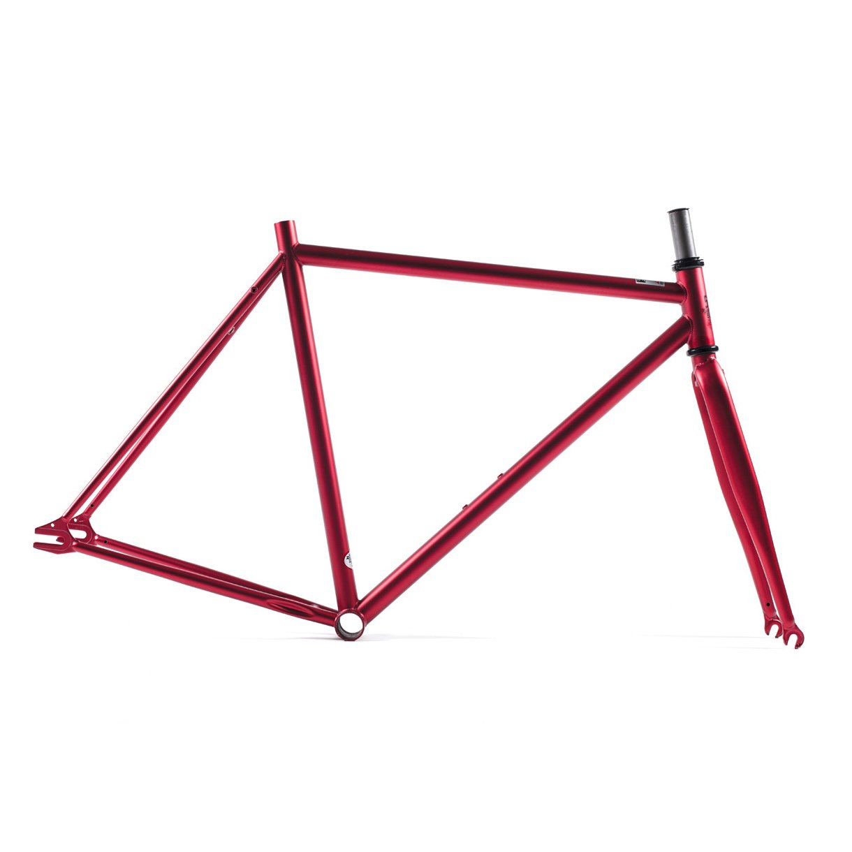 State Bicycle Fixed Gear/Fixie Single Speed Chromalloy Frame and Fork Set, Anode Red, 62cm State Bicycle Co. A730669265808