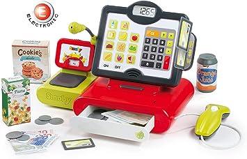 Smoby – Caja registradora eléctrico, 350103 Web, Rojo: Amazon.es ...