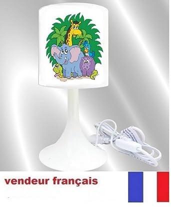 Lampe De Chevet Creation L Idee All Animaux De La Savane Jungle