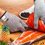 Cut and Heat Resistant Work Kitchen Gloves High Performance Level 5 Protection Food Grade Safety Hand Protection Cut Proof Builder Gloves