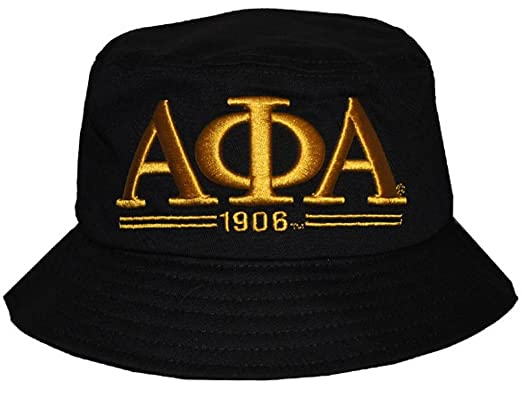 e0639a08ff1 Image Unavailable. Image not available for. Color  Alpha phi Alpha  Fraternity Mens New Bucket Hat Black