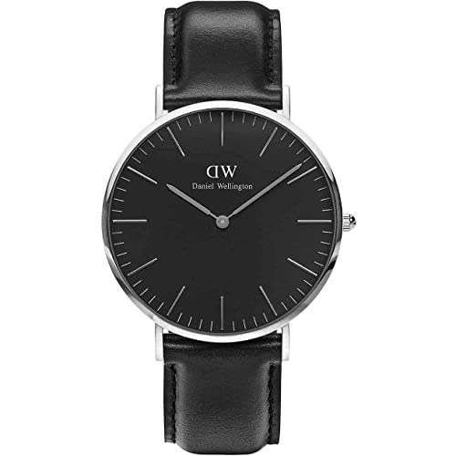 Daniel Wellington - Reloj para hombre de 40 mm - Modelo Daniel Wellington Classic Black Sheffield Silver DW00100133: Amazon.es: Joyería