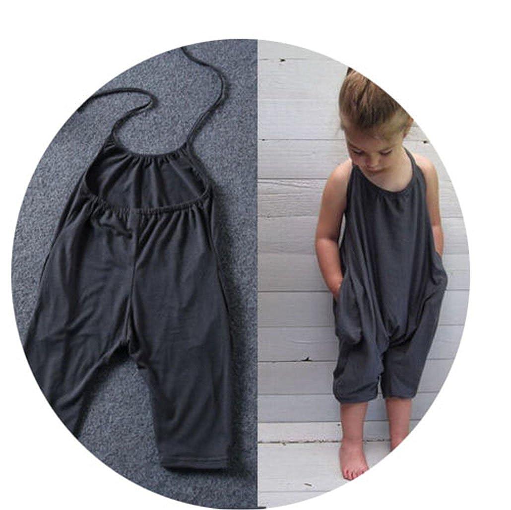 CARMELA HILL WILLIAMS Fashion Kids Baby Girls Strap Cotton Romper Jumpsuit Harem Trousers Summer Clothes