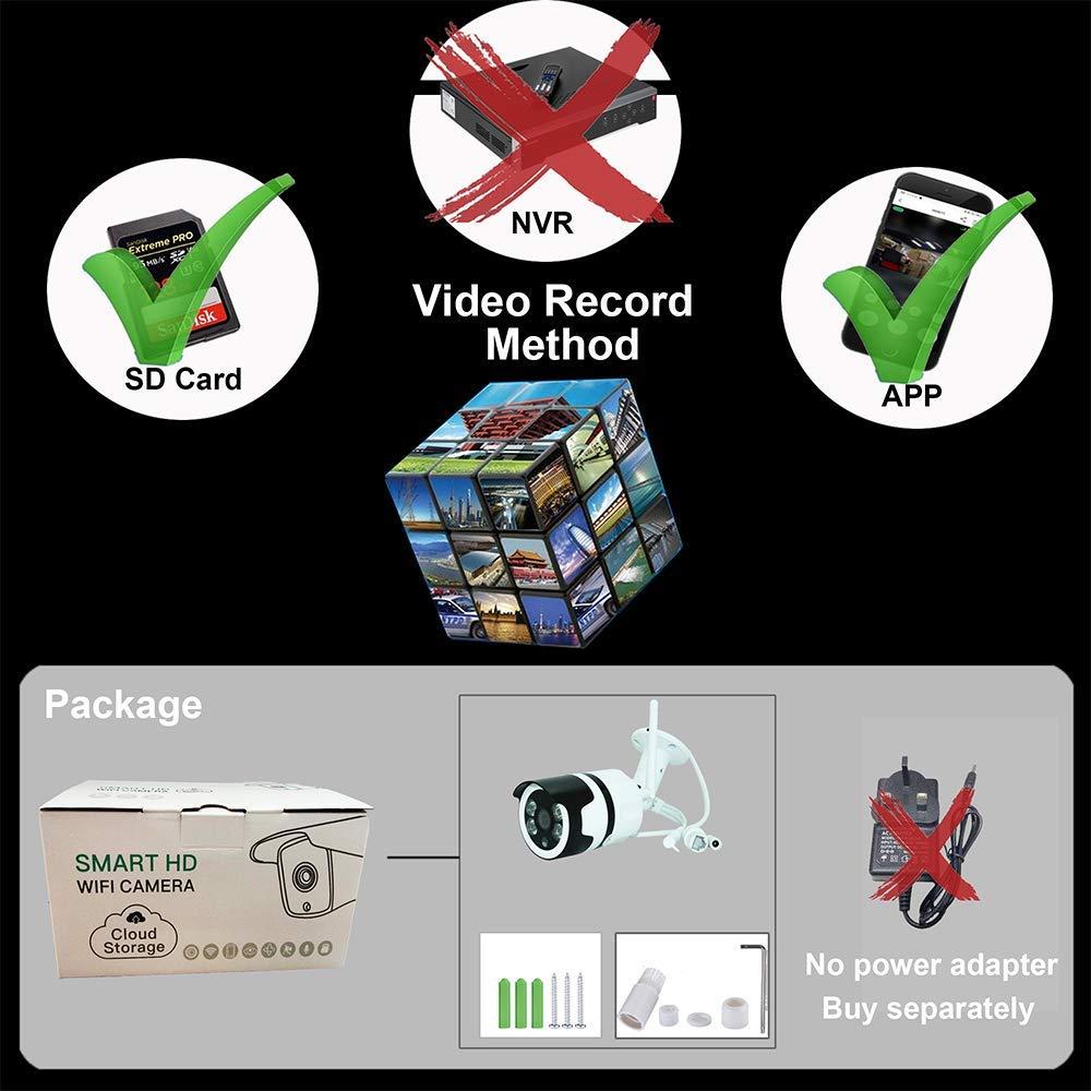 Vision Nocturne Cam/éra S/écurit/é /étanche IP66 avec Audio CTVISON Cam/éra IP Ext/érieur HD 1080P sans Fil Ext/érieur Cam/éra de Surveillance WiFi Alerte de D/étection de Mouvement Email Push