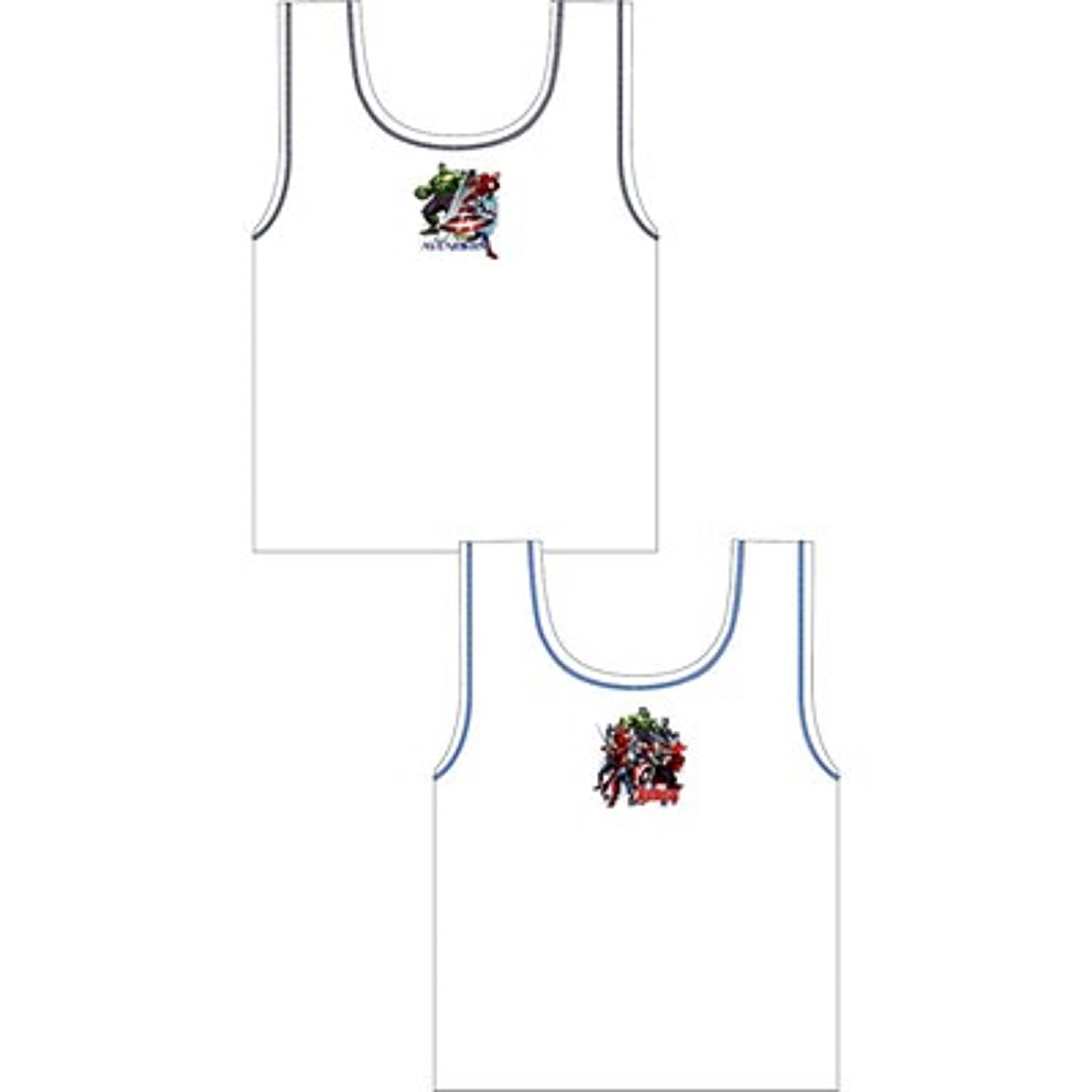 NEW BOYS OFFICIAL LICENCE MARVEL AVENGERS 2 IN A PACK VEST UNDERWEAR SIZE 3-4, 5-6 & 7-8 YEARS