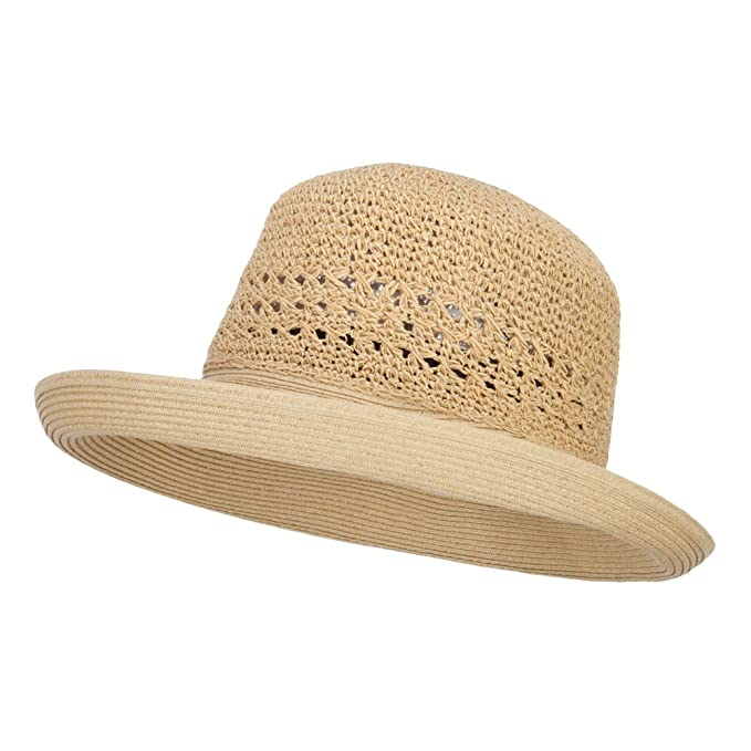 a8489b504 Jeanne Simmons Women's Slanted Kettle Brim Hat - Tan Tan OSFM at ...