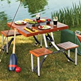 Leisure Season PFT12 Portable Folding Picnic Table