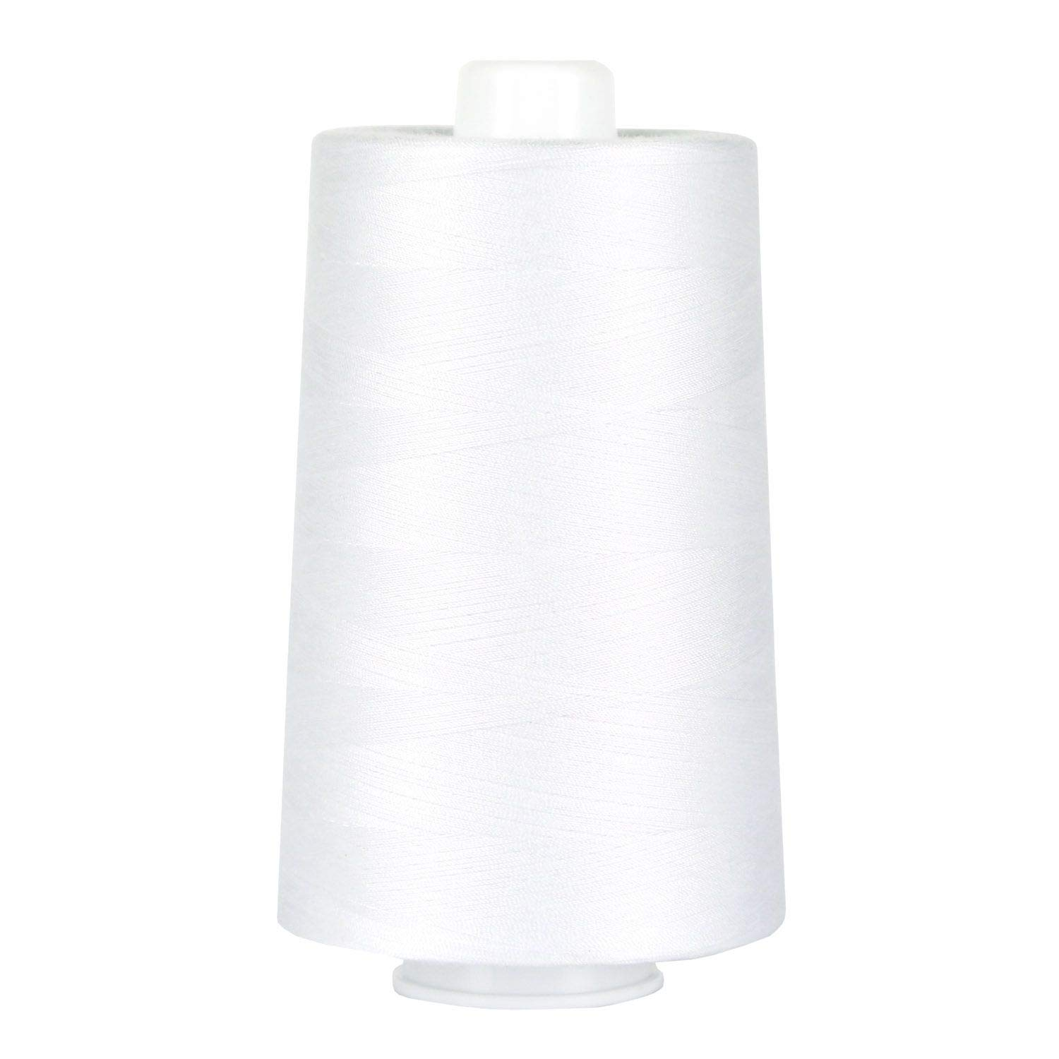 Superior Threads - Poly-Wrapped Poly Core Sewing Thread for Quilting, Omni Bright White, 6,000 Yds. by Superior Threads