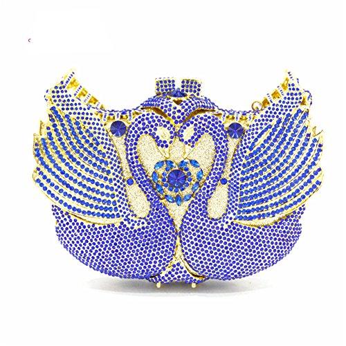 Flada - Cartera de mano para mujer azul azul small azul