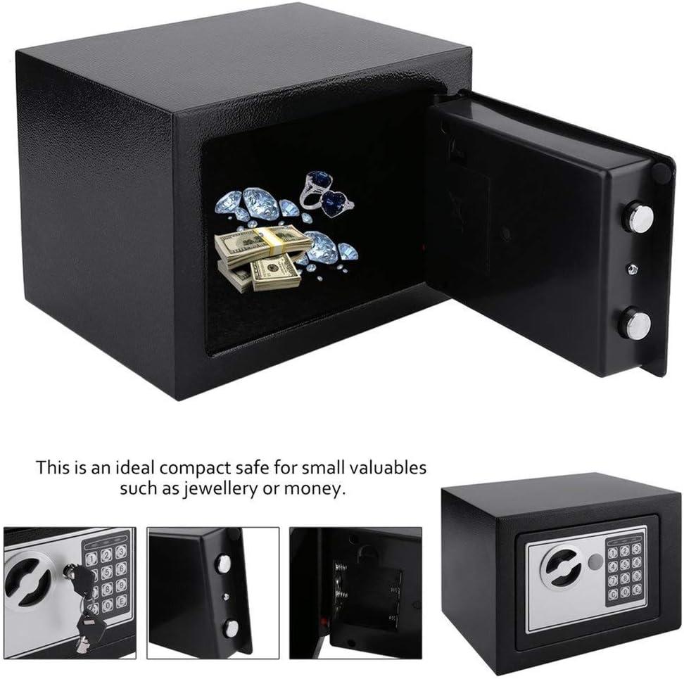 AIYASIWEI High Safety Performance Solid Steel Electronic Safe Box with Digital Keypad Lock 4.6L Mini Lockable Jewelry Storage Case Safe Money Cash Storage Box