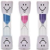 3 Adet Kum Saati Gülen Yüz Neşeli Dişler - 9 cm Boyunda 3 Dakikalık Kum Saati - ÜCRETSİZ KARGO