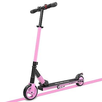 MegaWheels Patinete Scooter Eléctrico Plegable Ligero con Dos Ruedas para Niños y Adultos