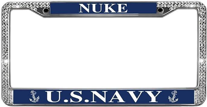 "/""VETERAN US NAVY/"" Metal Auto License Plate Frame Car Tag Holder"