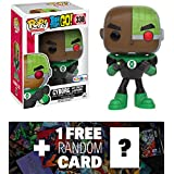 "Cyborg as Green Lantern (Toys ""R"" Us Exclusive): Funko POP! x Teen Titan Go! Vinyl Figure + 1 FREE Official DC Trading Card Bundle (102735)"