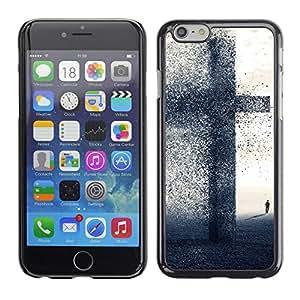 A-type Arte & diseño plástico duro Fundas Cover Cubre Hard Case Cover para Apple (4.7 inches!!!) iPhone 6 / 6S (Gran Cruz - Fe)