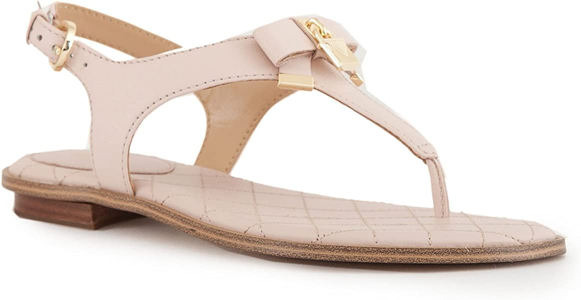 ac98751418a9 Michael Kors Alice Soft Pink Leather Padlock Sandals 41 Pink Leather   Amazon.co.uk  Shoes   Bags