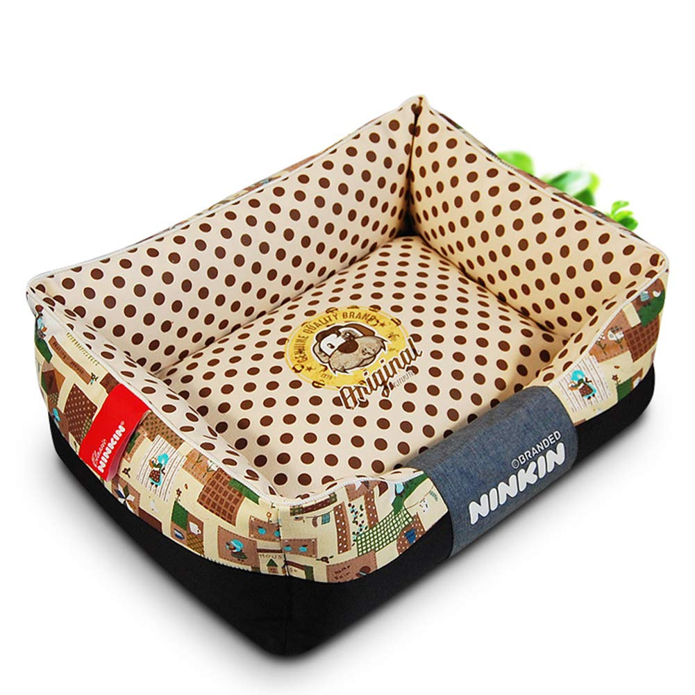 Brown 6080cm brown 6080cm Pet Bed,Ultra Comfort Dogs & CatsPet Bed,Four Seasons Universal Dog Bed,Easy to Wash Removable,Suitable for Small and Medium Dogs