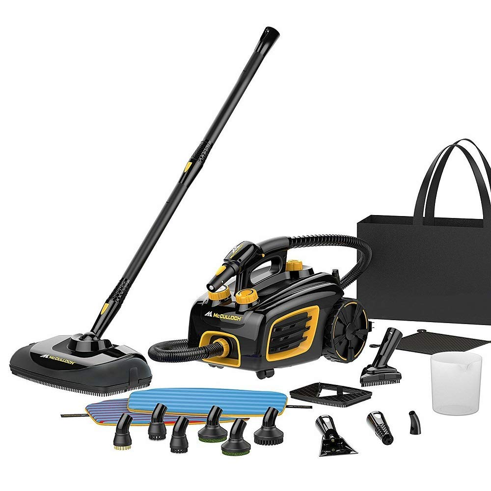 Alek...Shop Commercial Steam Cleaner System Multipurpose Deluxe Deep Clean Remove Stains Kitchen Floor Hotel Restaurant Public Toilet and Others, 20 Accessories