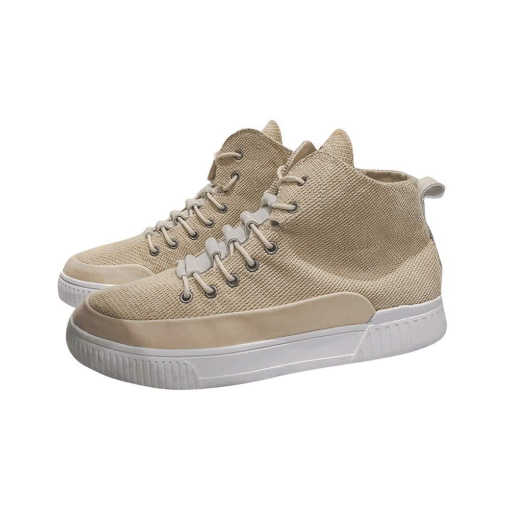 ZHRUI Beiläufige Seitliche Zip-Segeltuch-Schuhe der Männer weiche Sohle-Rutschfeste Breathable dauerhafte Aufladungen (Farbe   Khaki, Größe   EU 40)