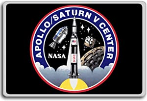 Kennedy Space Center Apollo-Saturn V Center - Space Travel Program Patch fridge magnet