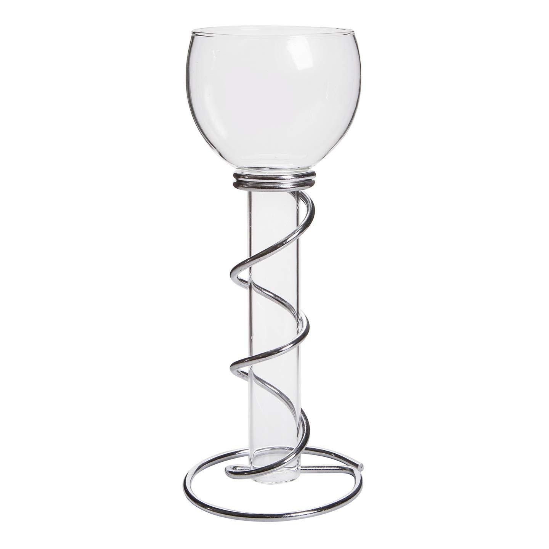 Bulk Buy: Darice DIY Crafts Victoria Lynn Single Floating Glass Taper Holder Silver Stand (6-Pack) 1098-05