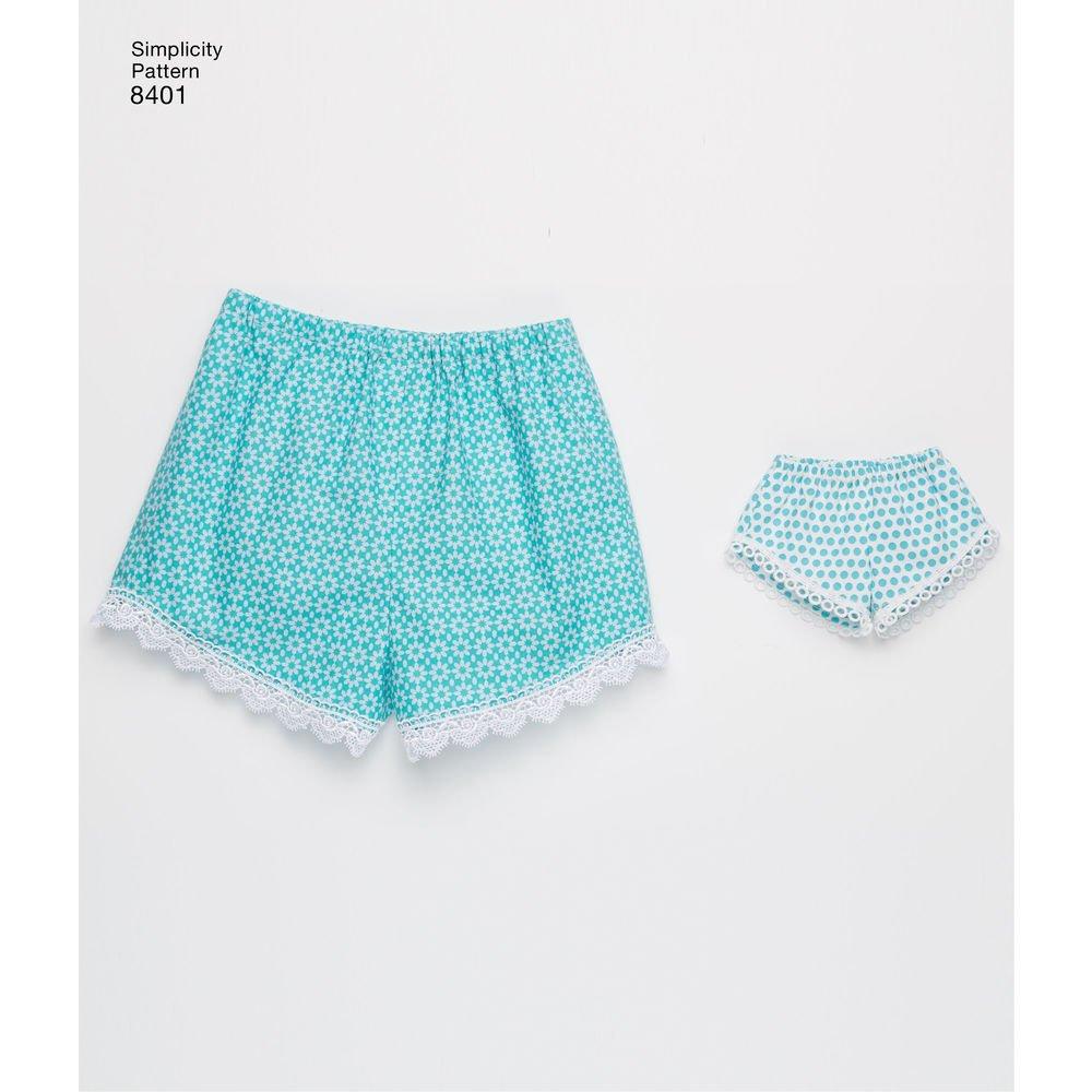 Patrón de costura Simplicidad d0682/8401 - American Girl Pantalones ...