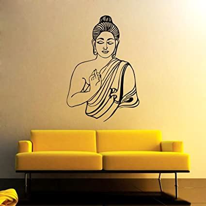 eaca0dcfc3c Buy Wall Sticker Lord Buddha Design (Cover Area  - 20 X 30 inch) Online at Low  Prices in India - Amazon.in