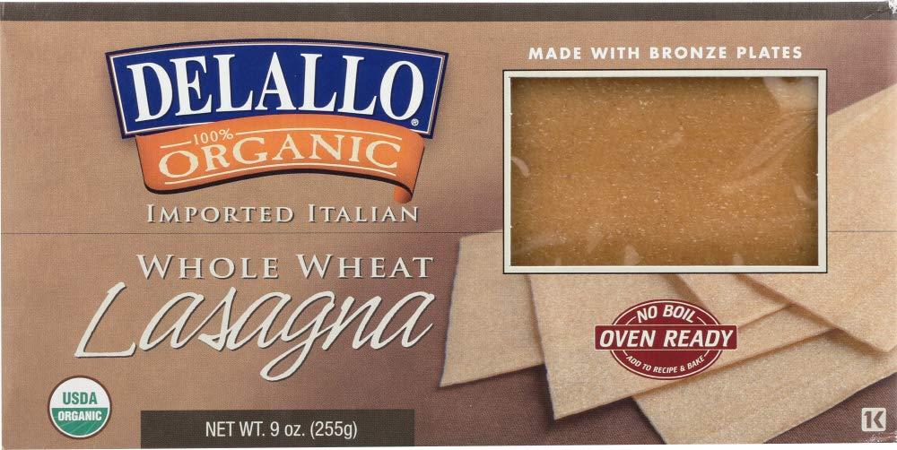DeLallo (NOT A CASE) Organic Whole Wheat Lasagna Oven Ready