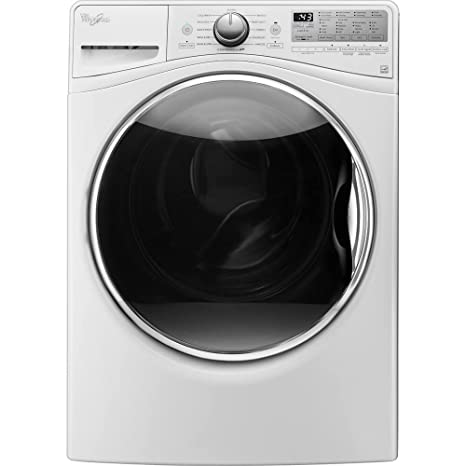 Amazoncom Whirlpool WFWHEFW Cu Ft White Front Load Steam - Abt washers