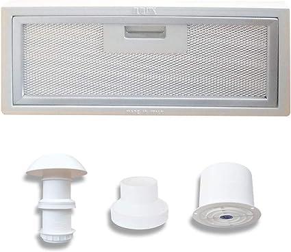 AVDISTRIBUTION Campana para Caravana – Lux – Disponible en la Versión con o sin Luces de LED Kit Cappa ASPIRANTE 12V: Amazon.es: Coche y moto