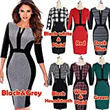 Digital baby Women's elegant movie stars long sleeve tunic cotton stretch business work well, cocktail party pencil Bodycon Dress shell(White,L)