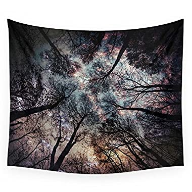 Society6 Starry Sky In The Forest Wall Tapestry Small: 51  x 60
