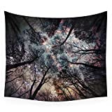 "Society6 Starry Sky In The Forest Wall Tapestry Small: 51"" x 60"" offers"