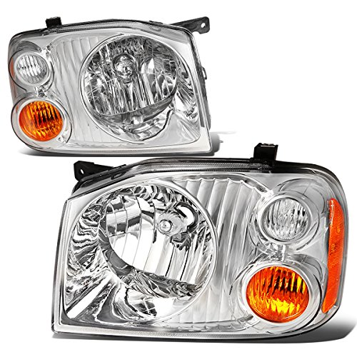 (For Nissan Frontier D22 Fiera Hardbody Paladin Pair Chrome Housing Amber Corner Headlight Replacement)