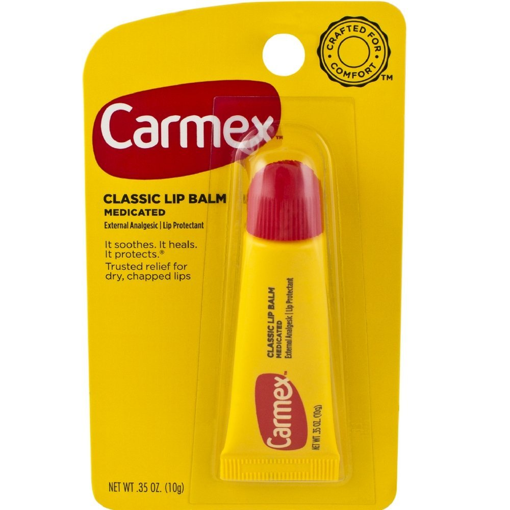 Carmex Classisc Lip Balm Medicated, 0.35 oz, Pack of 12 by Carmex