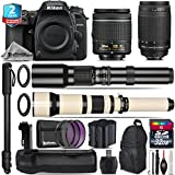 Holiday Saving Bundle for D7500 DSLR Camera + 650-1300mm Telephoto Lens + 70-300mm G Lens + AF-P 18-55mm + 500mm Telephoto Lens + Battery Grip + 2yr Extended Warranty + 32GB - International Version