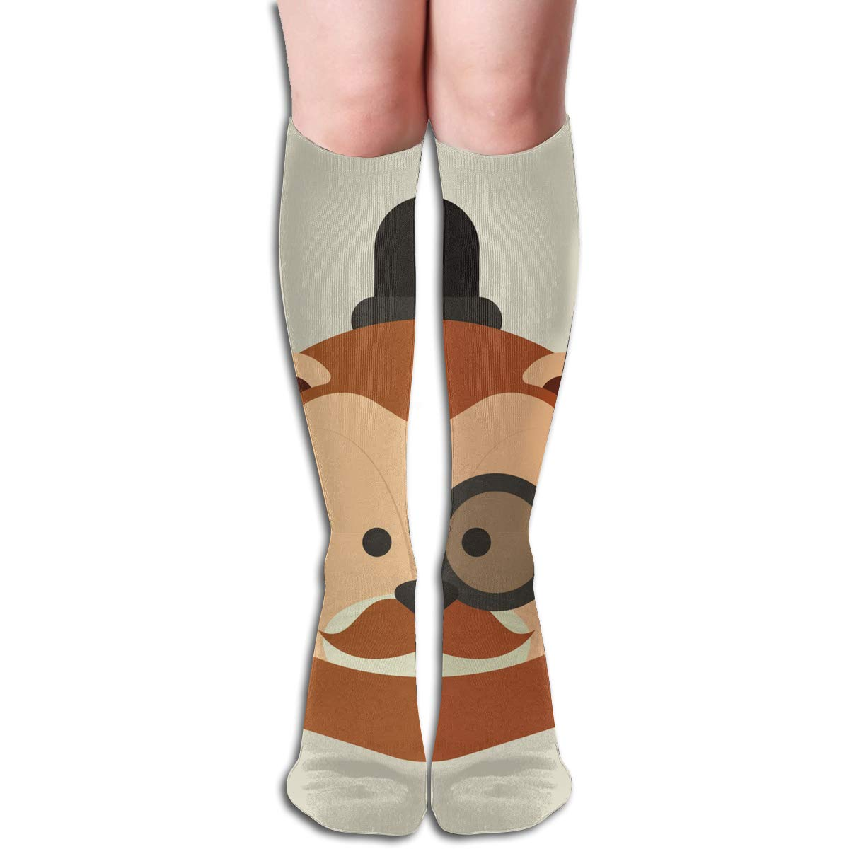 Women Socks Over Knee Fondo De Pantalla Water Lily Frog Winter Special For Christmas