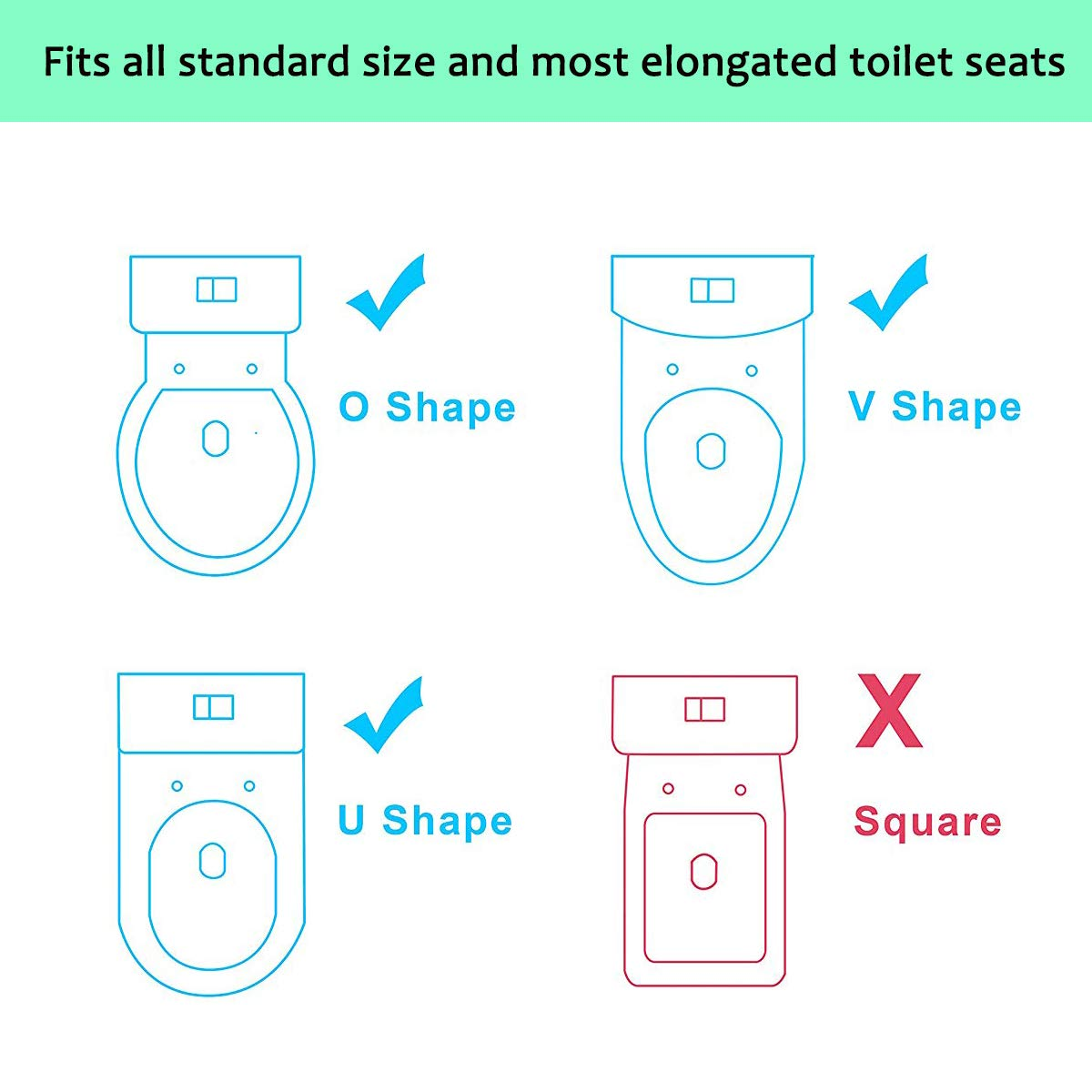 Blue Potty Training Seat with Step Stool Ladder,SKYROKU Potty Training Toilet for Kids Boys Girls Toddlers-Comfortable Safe Potty Seat with Anti-Slip Pads Ladder