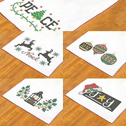 Herrschners® Bold Christmas Table Runners Stamped Cross-Stitch