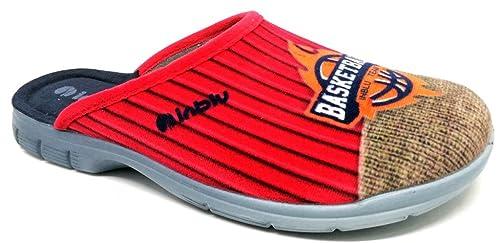 low priced 86b8d a9550 INBLU pantofole ciabatte da RAGAZZO INVERNALI mod. AT-24 rosso