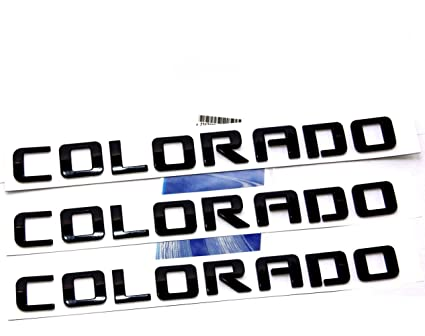Yoaoo 3x OEM Black Colorado Nameplate Emblem Alloy Letter Badge for Shiny