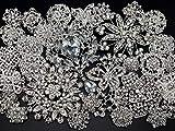 Lot 30pc Mixed Sliver Rhinestone Crystal Brooches Pin DIY Wedding Bridal Bouquet