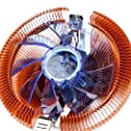V2AMZ - Temperature Control Colorful LED PC CPU Cooler Cooling Fan For AMD 754 for Intel 775#H029#