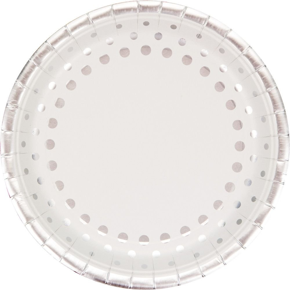 Creative Party Sparkle & Shine 25th Silver Anniversary Paper Party Dinner Plates (8 Pack) Creative Converting