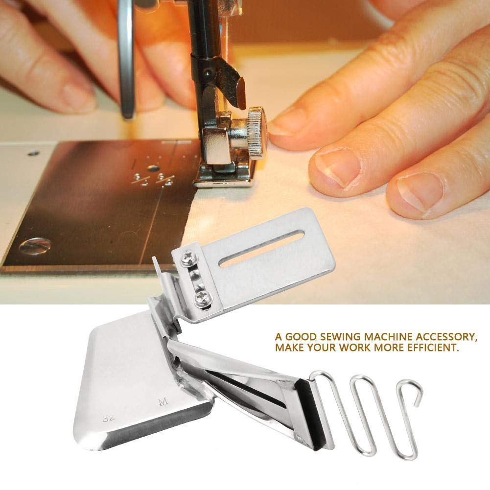 Industrial Sewing Machine Binder Attachment Iron Double Fold Plain Tape Binding Folder Accessory