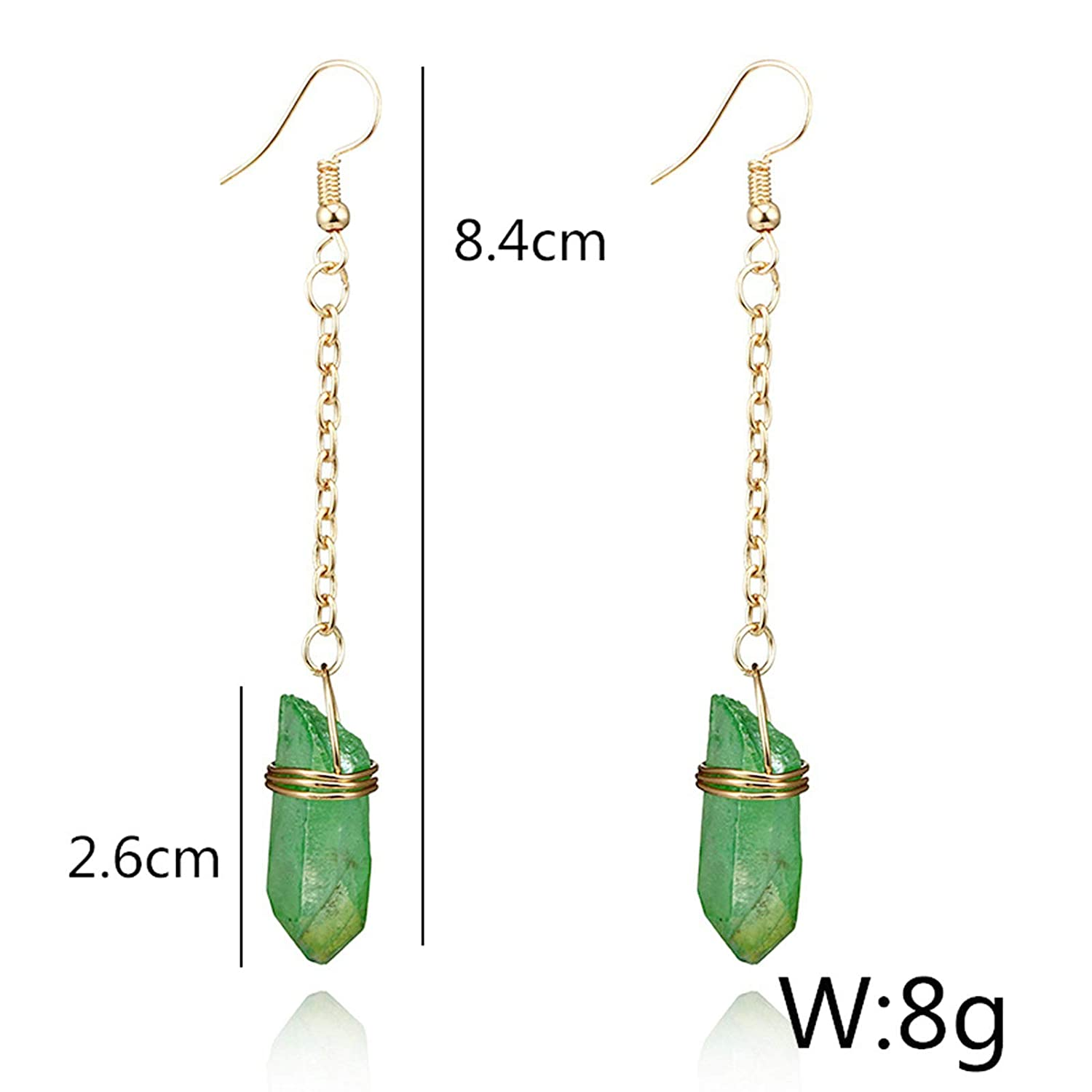 Gnzoe Female Jewelry-Alloy Earring for Women Girl Column Quartz Dangle Earrings