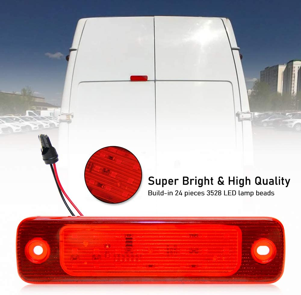 1 PC Car Tail Light High Mount LED 3rd Rear Third Brake Light Stop Lamp for Clio Mk II III Hatchback 1998-2005