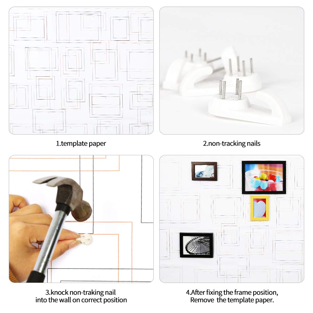 LHMAOMAO Photo Frames Set of 23 Multi Photo Kit for Wall Mount,Wall Decor Photo Frame with Hanging Template