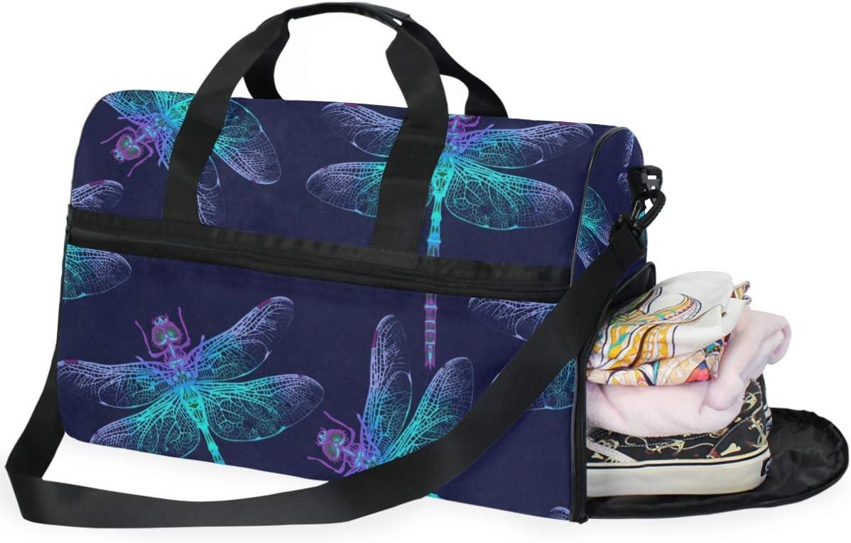 Gym Bag Dragonfly Sport Duffle Holdall Bag Training Handbag Yoga bag for Men Women